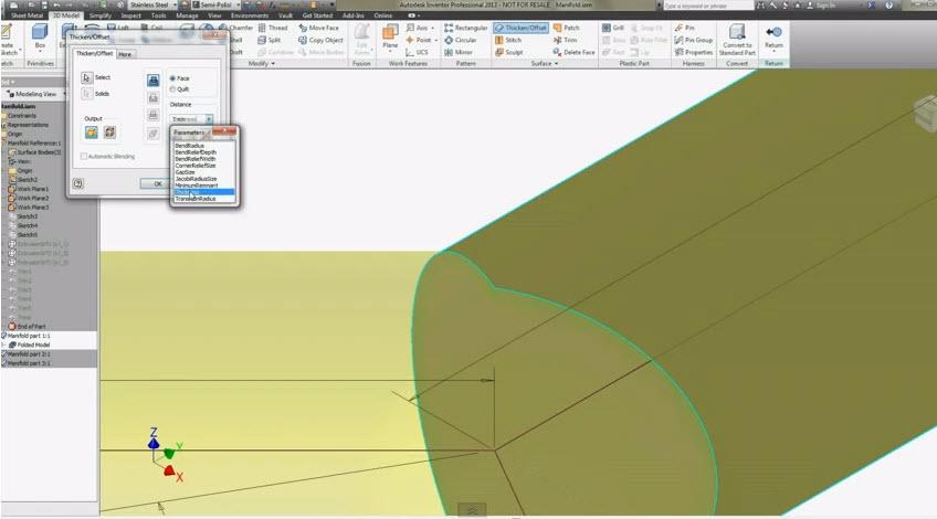 How To Create Sheet Metal Skeleton Manifold 3d Model Form