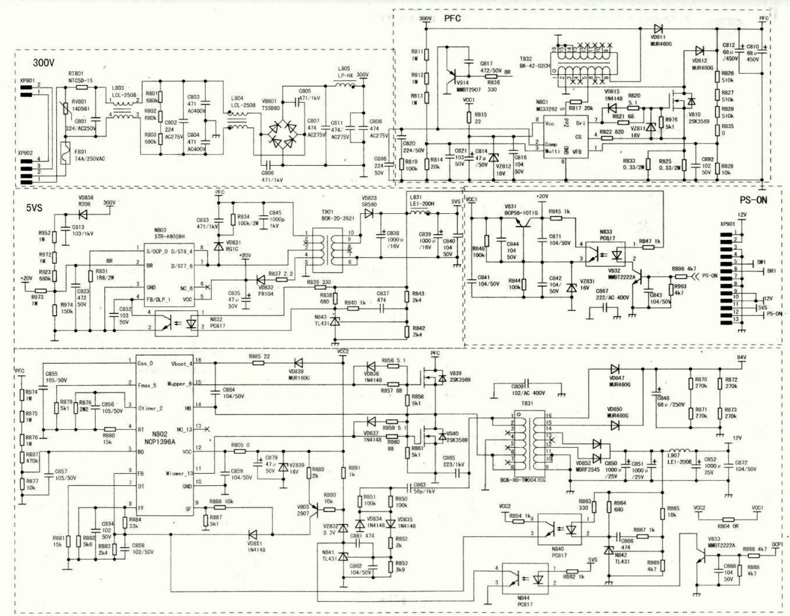 Electro Help  Hisense Lcd 2031 Led37t28kv  U2013 Smps Schematic  U2013 Circuit Description Oz9957 Cp1396a