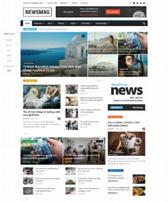 Newsmag WP Theme free Download