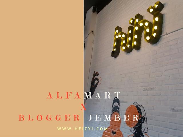 Alfamart Visit Blogger Jember at HiHi Cafe & Eatery