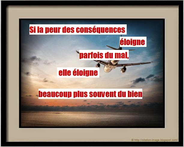 Belle citation éloignement en image