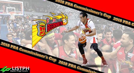 List of San Miguel Beermen Roster 2018 PBA Commissioner's Cup