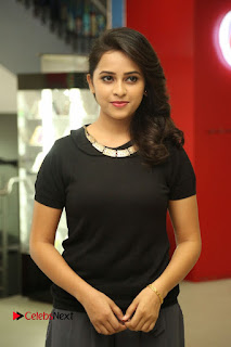 Actress Sri Divya Latest Pictures in Black Top  0036.JPG