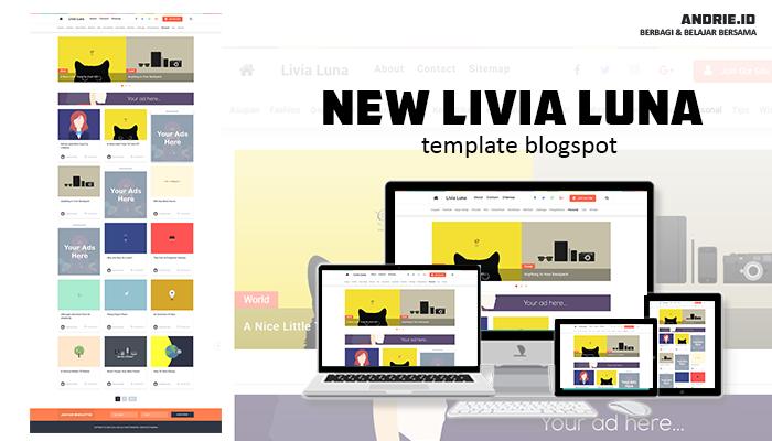 New Livia Luna Blogger Template 2020
