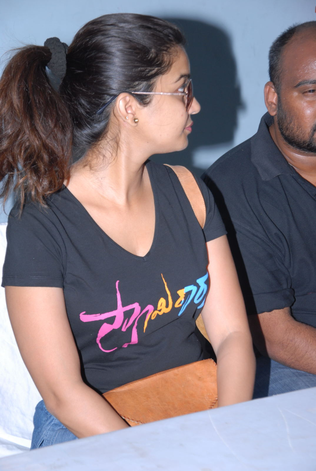 Colors swathi looking hot in glasses latest photos at imax for swami ra ra
