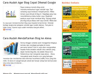 Koleksi Widget Blogger Lengkap