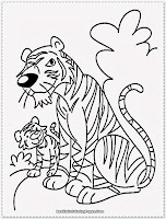 cartoon tiger coloring pages for kids