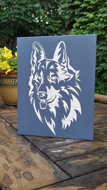 Inspiracje ze świata przyrody – książka – szkatułka z owczarkiem niemieckim ;)