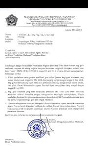 Surat Edaran Perpanjangan Waktu Pendaftaran PPG dan Perbaikan TMT  Guru bagi Guru Madrasah