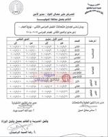 جداول امتحانات محافظة المنوفية 2018 (إبتدائى / إعدادى / ثانوى / دبلومات) أخر العام