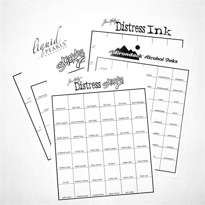 Capadia Designs Getting Organized - Ranger Stickles and Inks