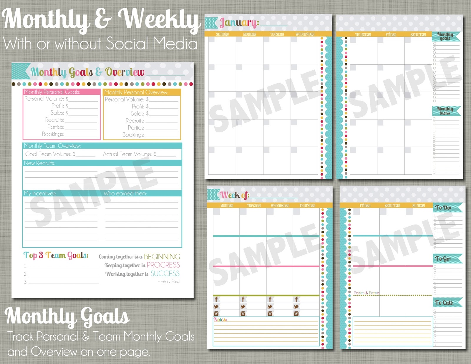 the polka dot posie direct sales planner instructions for printing