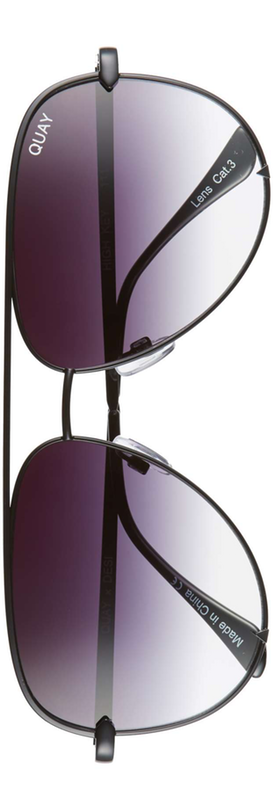 Quay x Desi Perkins 'High Key' 62mm Aviator Sunglasses