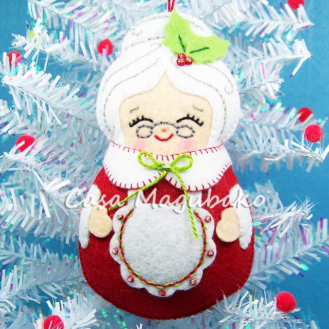 Mrs Claus Ornament by casamagubako.com