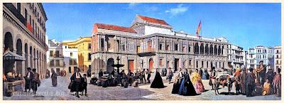 Plaza de San Francisco - SEVILLA (1850) - Anónimo