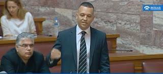 Ο Κασιδιάρης κράζει την Φουρέιρα και τους αλβανούς μέσα στην βουλή