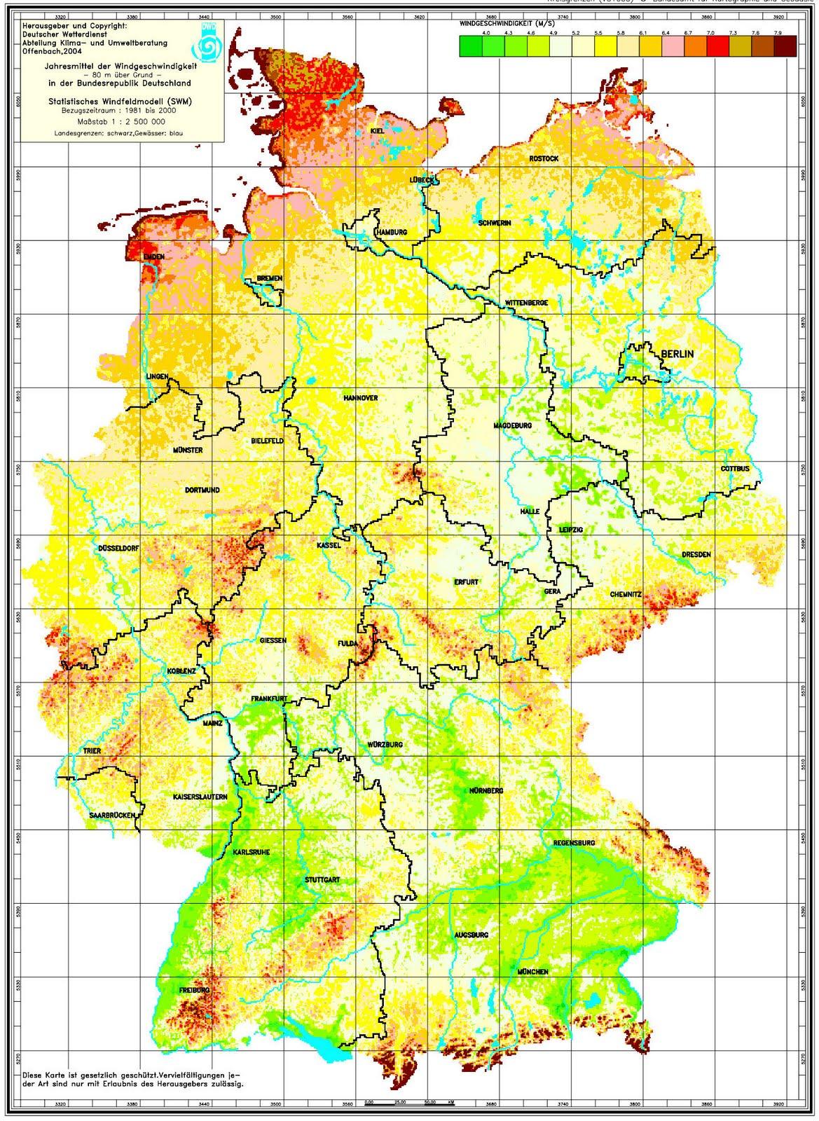 Windkarte Deutschland