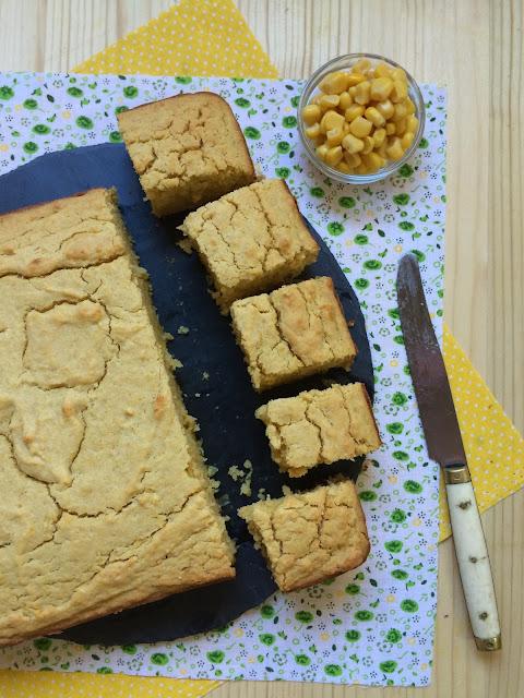 cornbread pan de maíz dulce receta