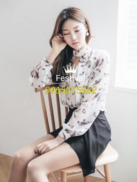 Set chân váy áo voan - F1007Mb - Ảnh 1