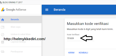 Cara mendaftarkan blog kegoogle adsense 3