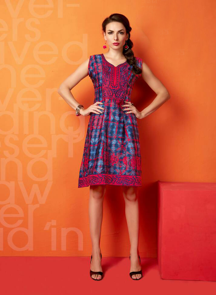 Sunshine – New Designer Awesome Stylist Glaze Cottton  Kurti