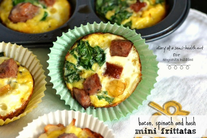 Customize this easy mini frittatas recipe any way you'd like! Try bacon or other veggies, too! From Diary of a Semi-Health Nut for Anyonita-nibbles.co.uk