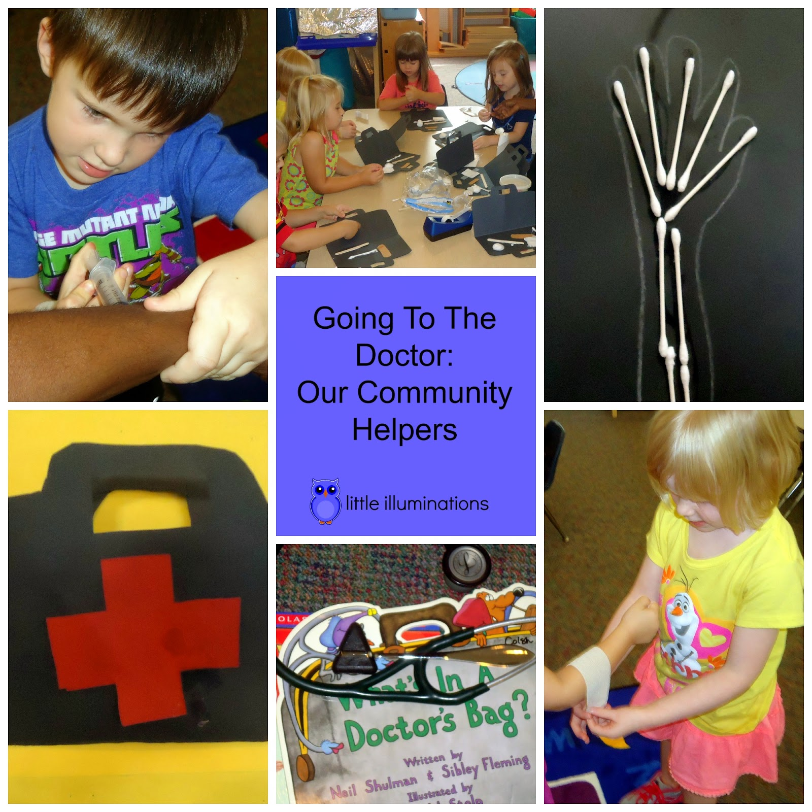 Little Illuminations Going To The Doctor Our Community Helpers