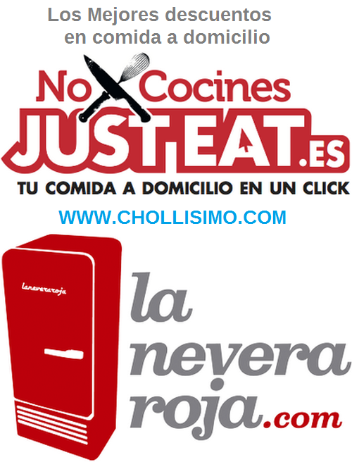 Descuentos Just Eat, Descuentos JustEat, Descuentos La Nevera Roja, Descuentos Comida Rapida, Chollo Just Eat, Chollo La Nevera Roja
