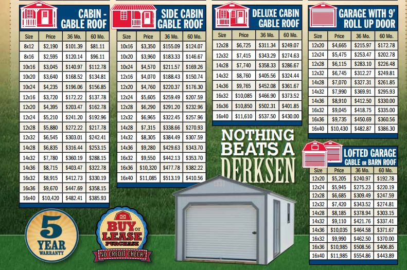 Shed Prices Near Me