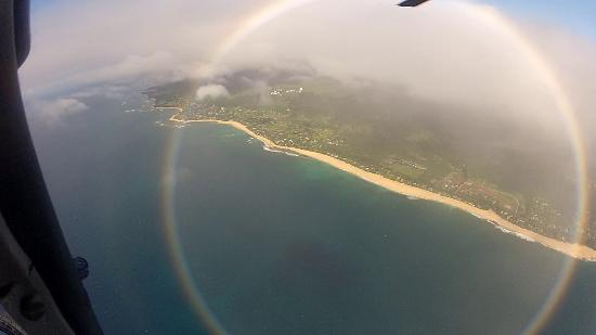 Circle rainbow over North Shore