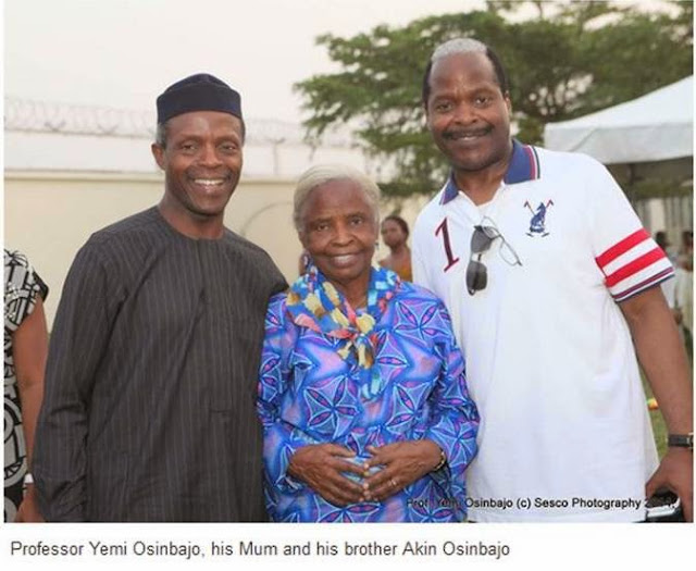 Image result for osinbajo and mother