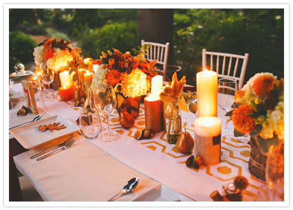 Fall Wedding Inspiration Beige: Candlelight Gives Us That Soft Glow And Warmth That We