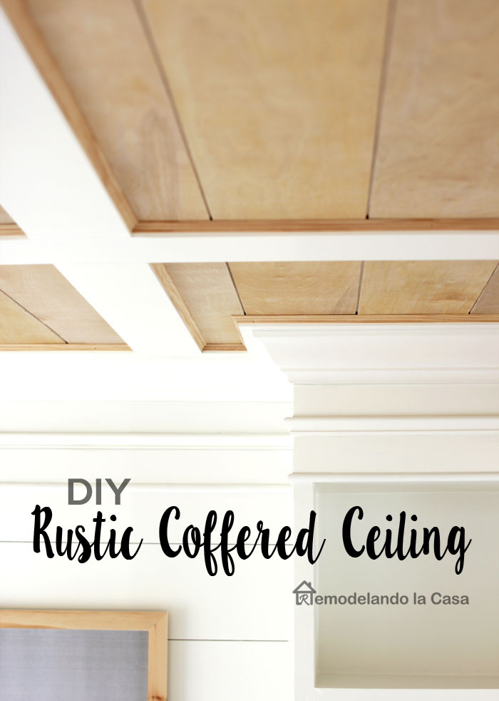 how to build a rustic flat ceiling wooden and white tones