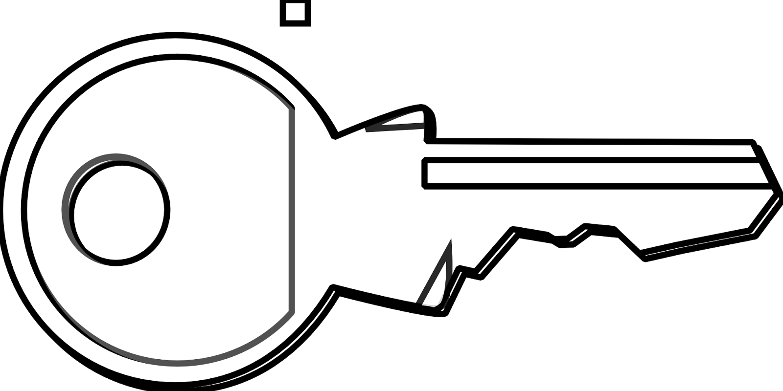 30 key clip art images black and white free download