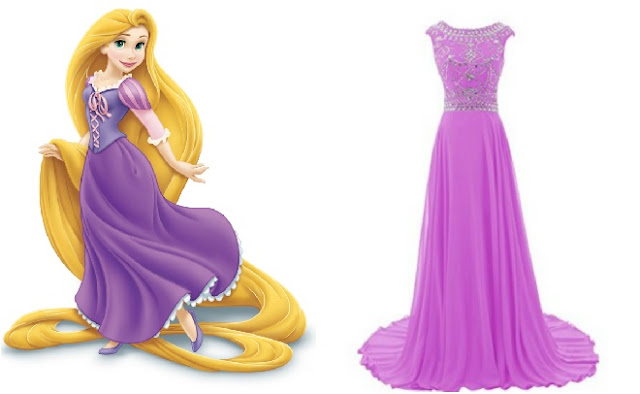 Disney Inspired prom dresses to wear tangled princess rapunzel purple lavender dress formal evening