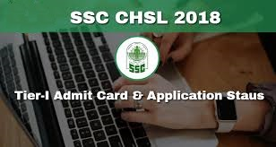 SSC CHSL Tier I Admit Card 2018 Download
