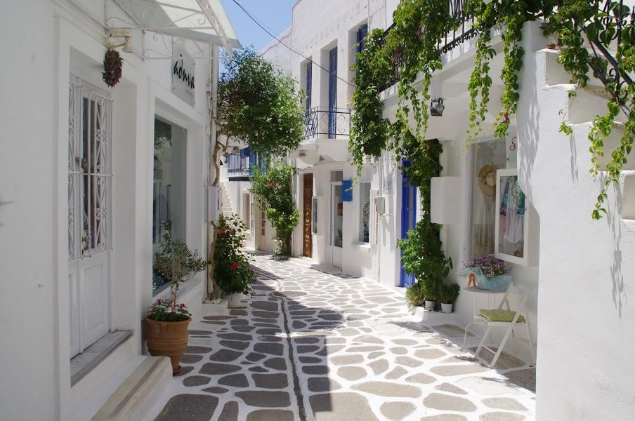 Streets of Parikia Paros Greek islands