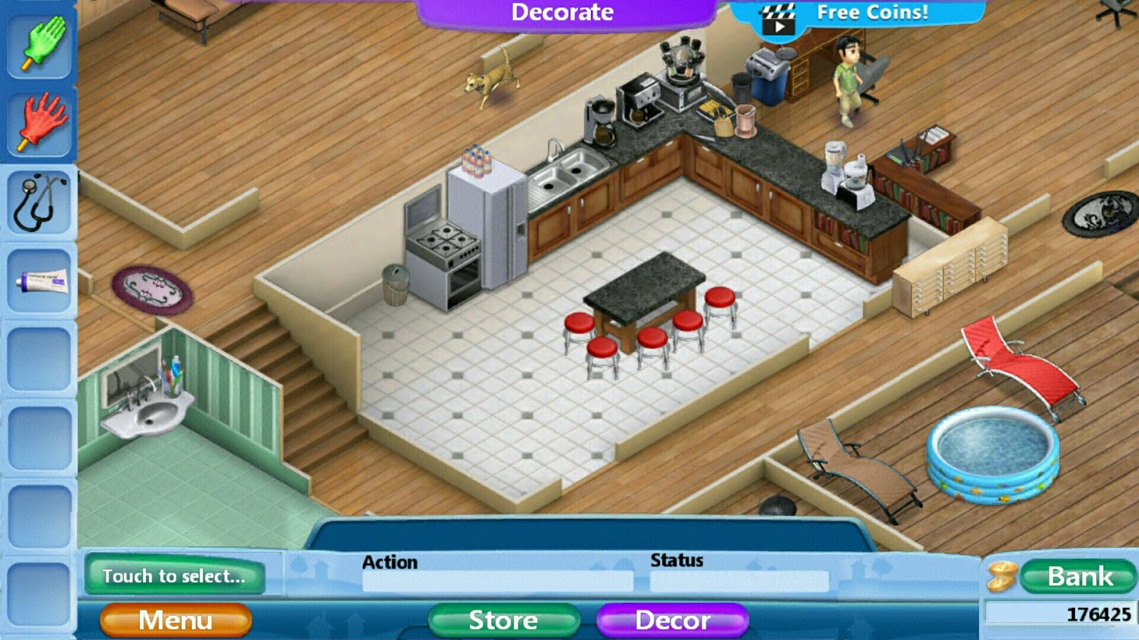 kitchen remodel simulator cabinet refacing los angeles virtual families 2 home renovation pictures also don t worry about overspending cos you can swap remodeling for free i e once have purchased the in beige it will forever