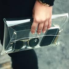 Bolsas transparentes estão em alta