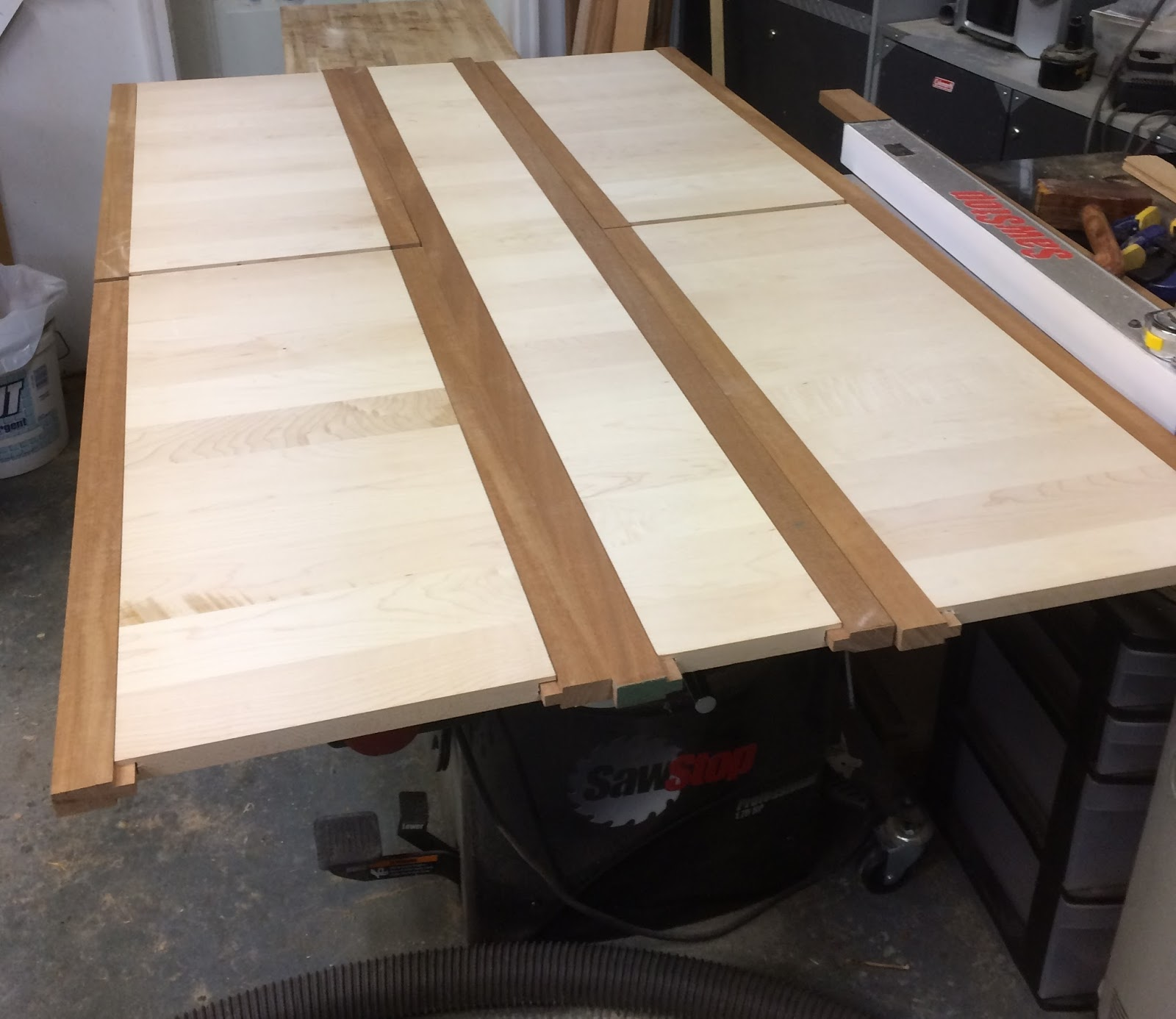 Atlast The Boat That Cai Built Is Building Our Table And Saw Stop Table Saw