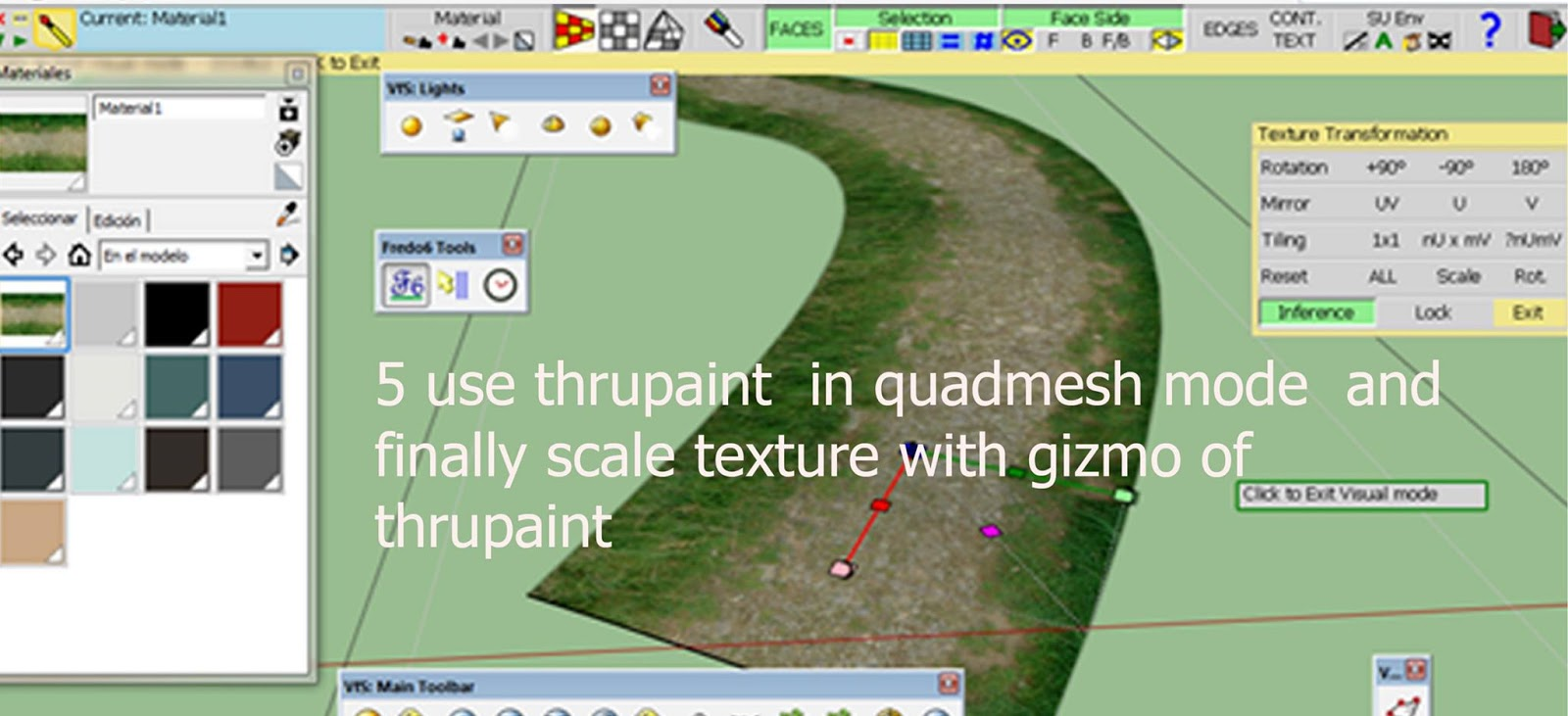 SKETCHUP TEXTURE: Sketchup tutorial - As perfectly texturize