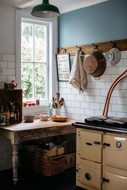cuisiniere aga deco cuisine rustique