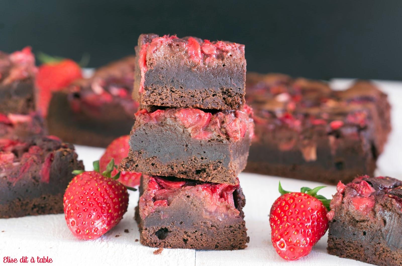 recette brownies aux fraises