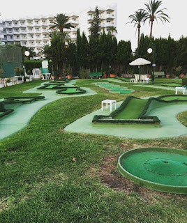 Mini Golf at the Lagotel in Playa de Muro, Majorca. Photo by Jim Holden, June 2018