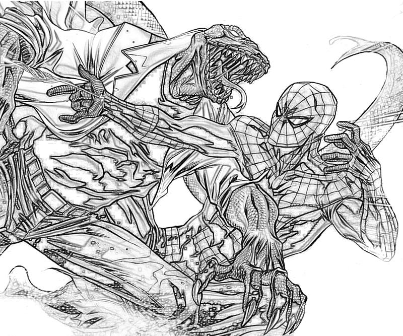 The amazing spider man lizard character yumiko fujiwara for Amazing spider man coloring pages