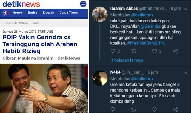 Sebut Gerindra cs Tersinggung oleh Arahan Habib Rizieq, PDIP Panik?