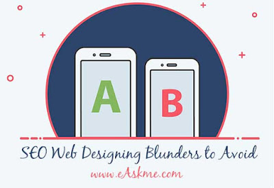 SEO Web Designing Blunders to Avoid: eAskme