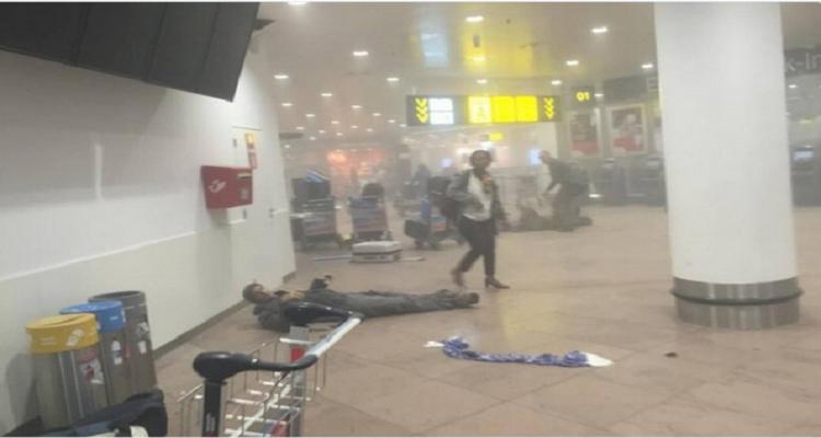 شاهد : المشاهد الاولية لهجمات مترو ومطار بروكسل