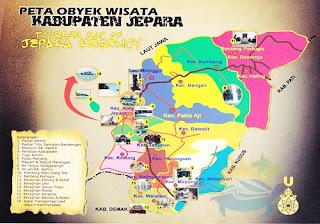 peta wisata jepara