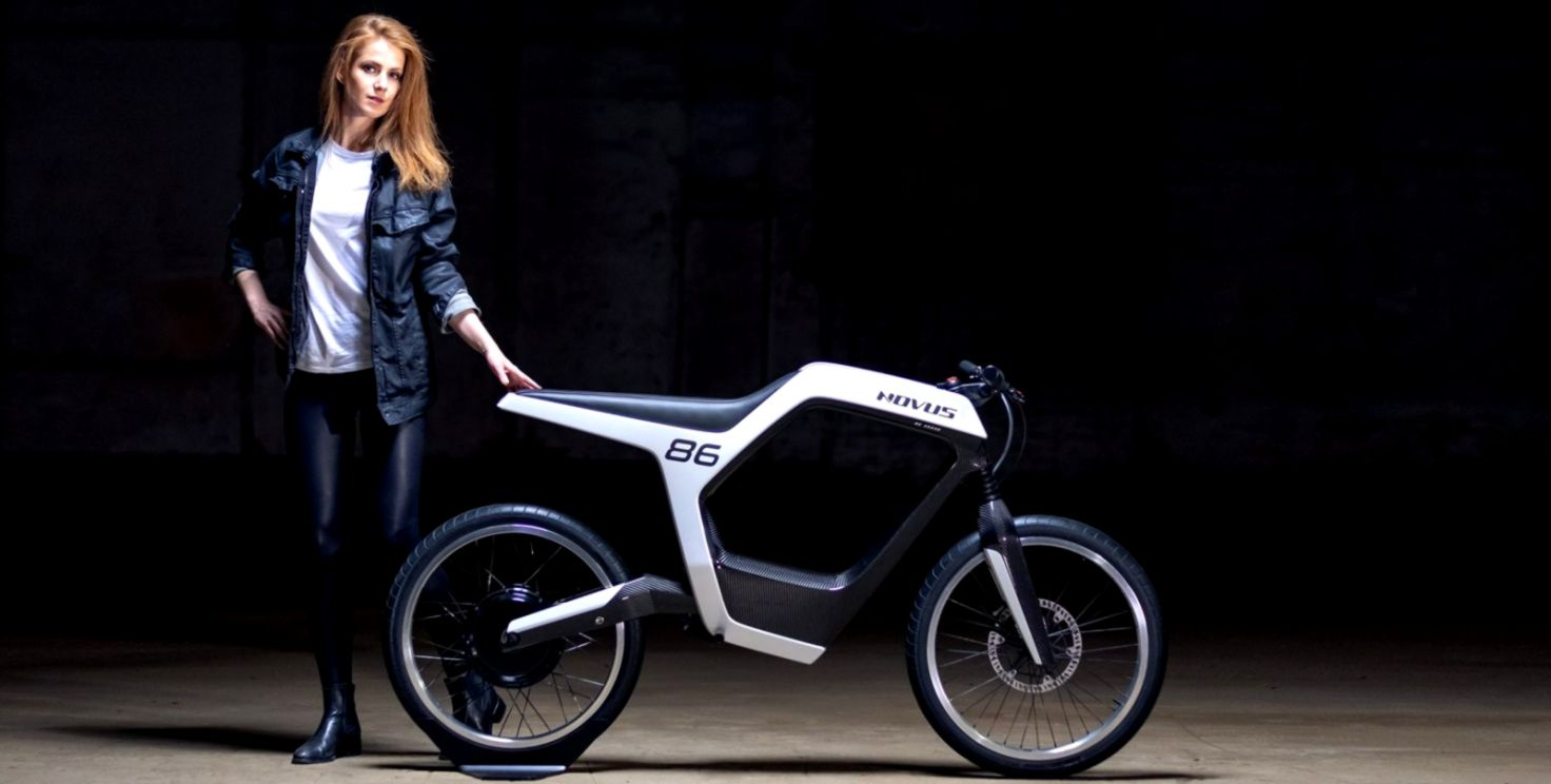 Novus electric motorcycle has stunning frame but knocks you out